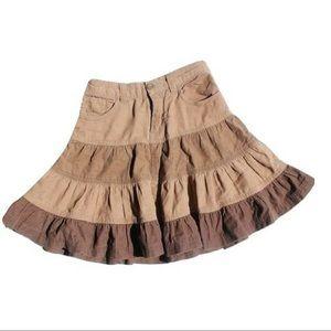 Girls Ruffled Corduroy Skirt, Size 5